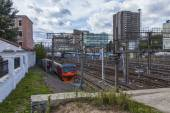 Moscow, Russia, on August 26, 2014, Tracks near the Kazan station — Stock fotografie