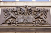 Prague, Czech Republic, on July 10, 2010. Architectural details of historical buildings — Stock fotografie