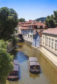 Praha, česká republika, 10 července 2010. pohled na nábřeží řeky chertovka — Stock fotografie