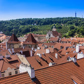 Prague, Czech Republic, on July 10, 2010. View of the city of a survey platform — Stock Photo
