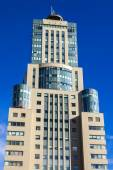 Moscow, Russia, on August 30, 2014. Architectural details modern buildings on Akademik Sakharov Avenue — Stock Photo