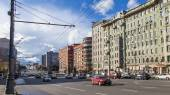 Moscow, Russia, on August 30, 2014. Typical architecture of city streets — Stock Photo