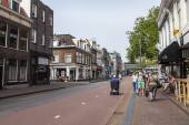 Haarlem, Netherlands, on July 11, 2014. A typical urban view with — Stock Photo