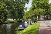 Haarlem, paesi bassi, su 11 luglio 2014. una tipica veduta urbana — Foto Stock