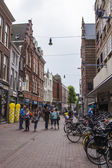 Haarlem, Netherlands, on July 11, 2014. A typical urban view with old buildings — Stock Photo