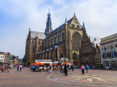 Haarlem, Netherlands, on July 11, 2014. A typical urban view — Foto Stock