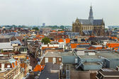 Haarlem, Netherlands, on July 11, 2014. A view of the city from a survey terrace — Stock Photo
