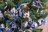 The New Year tree decorated in the Dutch style — Stock Photo