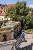 Prague, Czech Republic, on July 10, 2010. View of the city of a survey platform — Stock Photo