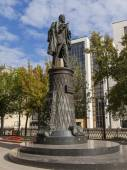Moscow, Russia, on September 9, 2014. Monument to the engineer Shukhov — Stock Photo