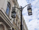 Moscow, Russia, on September 9, 2014. Typical architectural details of old Moscow houses — Stock Photo