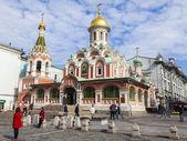 москва, россия, 9 сентября. церковь в иверский ворота — Стоковое фото