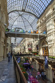 Moscow, Russia, on September 9, 2014. Interior of a trading floor of GUM shop — ストック写真