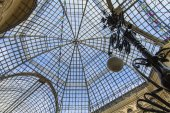 Moscow, Russia, on September 9, 2014. Glass roof in GUM Shop on Red Square — Stock Photo