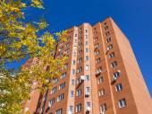 Pushkino, Russia, Architectural fragment of the modern house around a mass housing estate — Stok fotoğraf
