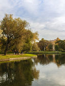St. Petersburg, Russia, on October 15, 2011. The Yusupov garden - one of city sights. Autumn look — Foto de Stock