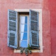 Nice, France, on October 15, 2012. Architectural details. Fragment of a facade of the house in Provencal style — Stock Photo #53841477