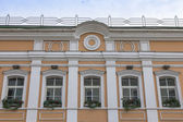 Moscow, Russia, on September 23, 2014. Typical details of facades of old Moscow houses — Stock Photo