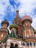 Moscow, Russia, on September 23, 2014. St. Basil's Cathedral (Pokrovsky Cathedral) on Red Square — Stockfoto