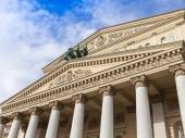Moscow, Russia, on September 23, 2014. Bolshoi theater, architectural details. Pediment and Appolon's chariot — Stock Photo