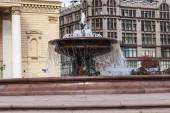 Moskva, Ryssland, den 23 september, 2014. fontänen på theatre square — Stockfoto