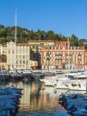 Nice, France, on October 16, 2012. View of city port — Stock Photo