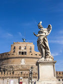 Rome, Italy, on October 10, 2012. A sculpture the Angel decorating the Sacred Angel the bridge — Stock Photo
