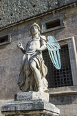 Rome, Italy, on October 10, 2012. A figure Angel in the Castle of the Sacred Angel — Stock Photo