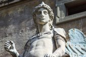 Rome, Italy, on October 10, 2012. A figure Angel in the Castle of the Sacred Angel — Stockfoto