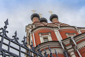Moscow, Russia, on October 14, 2014. Architectural details of the orthodox temple — Stock Photo