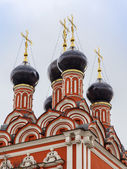 Moscow, Russia. Architectural details of the orthodox temple — Stockfoto