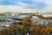 Moscow, Russia. A view from the window of the apartment — Stock fotografie