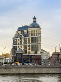 Moscow, Russia, on October 14, 2014. Architectural complex of the river embankment Moscow — Стоковое фото