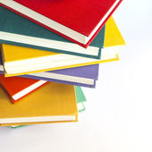 Rough pile of vintage books in multi-colored covers — Stock Photo