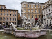 Rome, Italy, on October 10, 2013. The fountain on Navon Square — Stock Photo