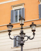Rome, Italy, on October 10, 2013. Ancient streetlight — Stock Photo