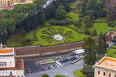 Rome, Italy, on February 22, 2010. A view of the Vatican gardens from a survey platform of St. Peter's Cathedral — Stock Photo