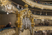 St. Petersburg, Russia, on November 2, 2014. Maryinsky Theater. The audience in a hall expects the beginning of the ballet Don Quixote on Minkus's music — Stock Photo