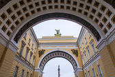 St. Petersburg, Russia, on November 3, 2014. The General Staff Building on Palace Square. Facade fragment — Stock Photo