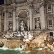Rome, Italy, on February 25, 2010. Well-known fountain of Trevi. Fonyan Trevi - one of the most known sights of Rome — Stock Photo #58734097