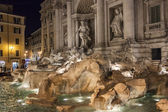 Rome, Italy, on February 25, 2010. Well-known fountain of Trevi. Fonyan Trevi - one of the most known sights of Rome — Stock Photo