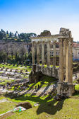 Rome, Italy, on February 25, 2010. Ruins of ancient constructions. Place of archeological excavations — Stock Photo