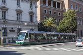 Řím, Itálie, 25 únor, 2010. Typický městský pohled. V tramvaji, na ulici města — Stock fotografie