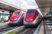 Rome, Italy, on February 26, 2010. The modern high-speed train at the platform of the station in Rome — Foto de Stock