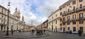 Rome, Italy, on February 26, 2010. Architectural complex of Navona Square — Stock Photo