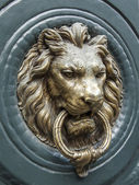 Paris, France, on May 3, 2013. Fragment of a door of the typical ancient house — Stock Photo