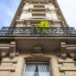 Paris, France, on May 3, 2013. Typical urban view. Historical house — Stock Photo #60455287