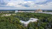 Pushkino, Russia, on August 26, 2011. A view of the city from a high point — Stockfoto