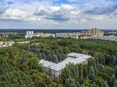 Pushkino, Rusia, a 26 de agosto de 2011. Una vista de la ciudad desde un alto punto — Foto de Stock