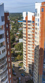 Pushkino, Russia, on August 26, 2011. A view of the city from an apartment house window — Stock Photo